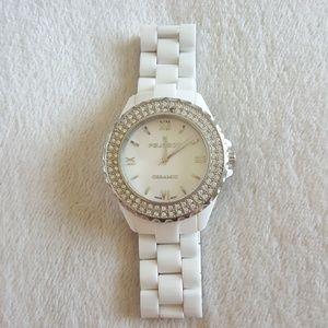 Peugeot White Ceramic Watch